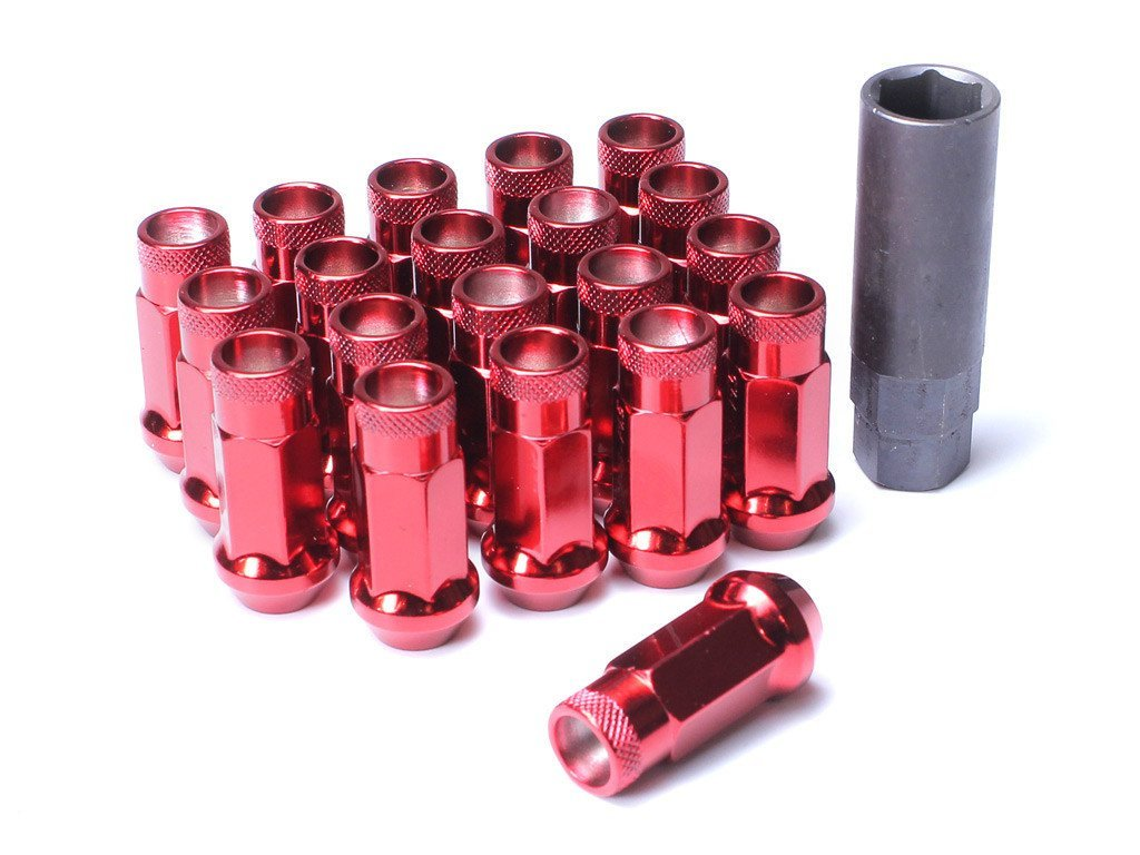 Muteki SR48 Extended Racing Lug Nuts 20pcs - Red