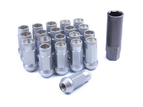 Muteki SR48 Extended Racing Lug Nuts 20pcs - Silver
