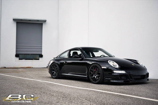 BC Coilovers installed on a Porsche 997