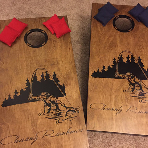fly fishing cornhole