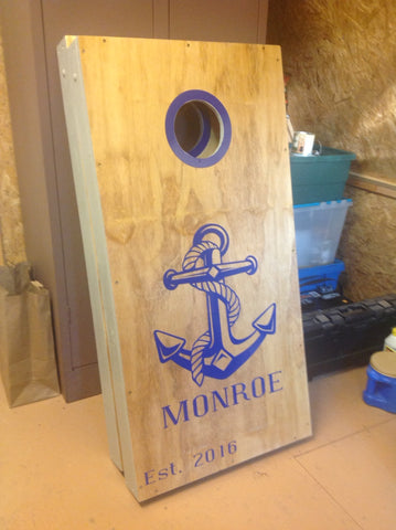 anchor cornhole decals