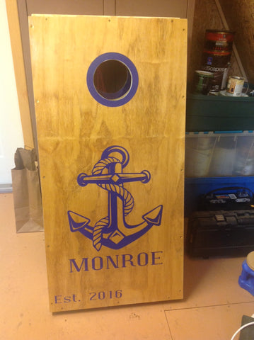 cornhole decals anchor