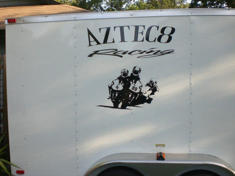 Racing Trailer Decals Gallery Sticker Chef