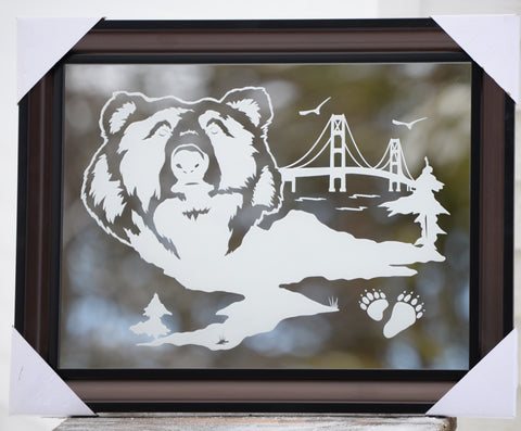 bear etched mirror