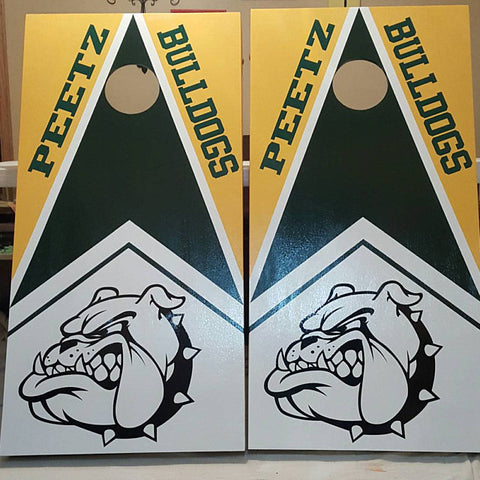 bulldogs cornhole decal