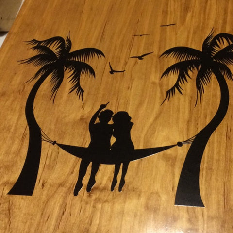palm tree cornhole