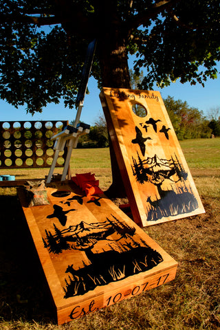 hunting fishing cornhole