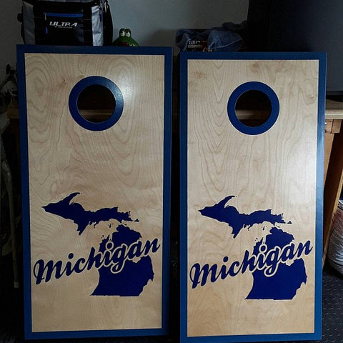 Michigan cornhole decal