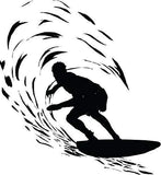 Catching A Wave Large 6 Feet Tall Surfer Vinyl Wall Art Sticker Decal Graphic Home Decor - Sticker Chef