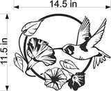 Etched Glass Vinyl Window Films Humming bird Flowers Home Decor FED165
