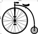 High Wheel Bike Cycle Vinyl Wall Art Sticker Decal Graphic Home Decor