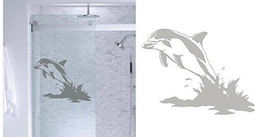 StickerChef Dolphin Ocean DIY Etched Glass Vinyl Window Films Shower Door Bathroom Decor