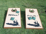 Tornados Mascot Sports Team Cornhole Board Decals Stickers Enough Both Boards