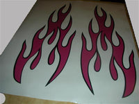 Tribal Flame Auto Truck Boat Car Stickers  Decals Side Sets PF04