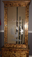 White Tail Deer Hunting Gun Cabinet Etched Glass Decal Vinyl