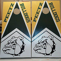 Wolves Mascot Sports Team Cornhole Board Decals Stickers Enough Both Boards