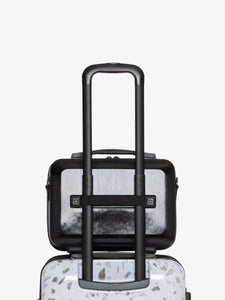 CALPAK black travel vanity case with rolling carry on luggage