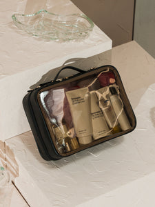 CALPAK large clear makeup bag in eclipse