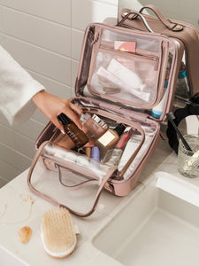 CALPAK clear large makeup bag with compartments
