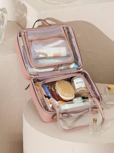 CALPAK clear travel makeup bag with compartments
