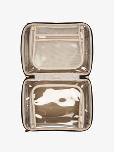 CALPAK large clear cosmetics cases in eclipse