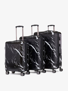 black marble large checked suitcase as a part of CALPAK Astyll luggage collection