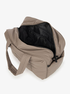 brown CALPAK Luka duffel bag