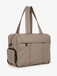 brown CALPAK Luka duffle bag
