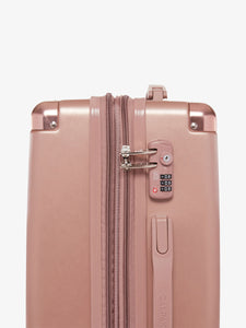 TSA lock of rose gold CALPAK Ambeur hardside carry on suitcase