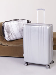 CALPAK Ambeur silver medium 26 inch lightweight hardside luggage on wheels