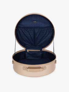 CALPAK Baye large gold hat box for travel - 19 inches-interior