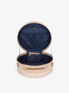 CALPAK Baye small gold hat box for travel - 13 inches - interior