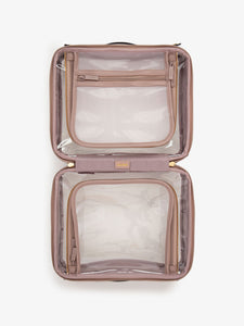 CALPAK large clear travel makeup bag with compartments