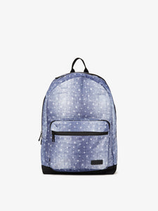 Denim CALPAK Glenroe backpack with white stars
