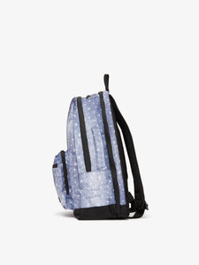 denim CALPAK Glenroe backpack - side view