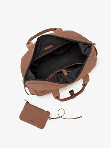 CALPAK Hue duffel bag interior compartments and laptop pocket