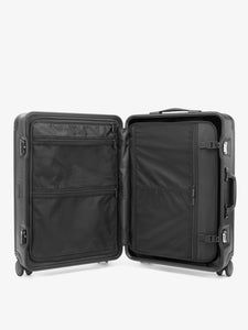 CALPAK Jen Atkin black premium luggage with compression panel