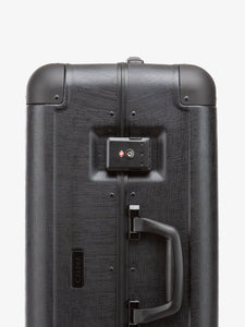 CALPAK Jen Atkin black premium luggage: zipperless with TSA accepted lock