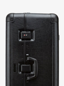 CALPAK Jen Atkin premium black luggage: zipperless with built in TSA accepted lock