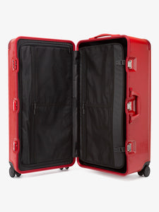 CALPAK Jen Atkin premium 31 inch red trunk luggage with compression panel