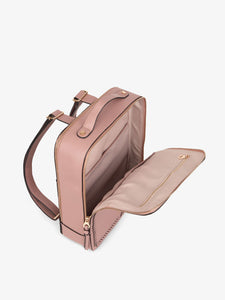 mauve pink CALPAK Kaya laptop backpack with compartments for laptop