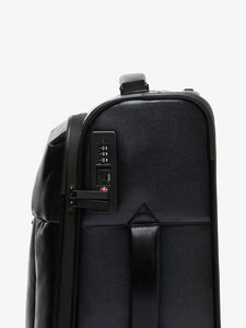 black CALPAK Luka softside carry on luggage with TSA lock