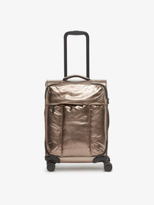 bronze gold CALPAK Luka - lightweight rolling softside carry on luggage