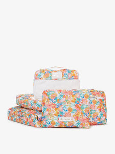 CALPAK packing cubes with floral print from OH Joy! collection