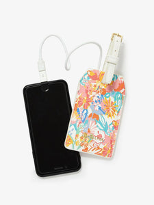 Oh Joy! power luggage tag with floral print