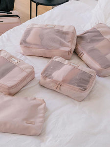 CALPAK 5 piece pink packing cubes set