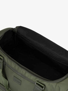 green moss CALPAK Stevyn duffel bag - open interior bag