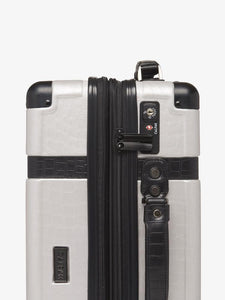 CALPAK TRNK 29 inch checked grey luggage with TSA approved locks