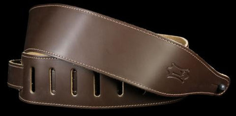 Levy's DM17 Soft Garment Leather Guitar Strap Dark Brown