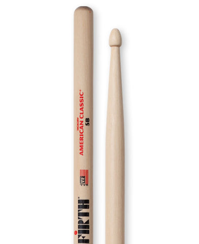 Vic Firth American Classic 5B Hickory Wood Tip Drumstick